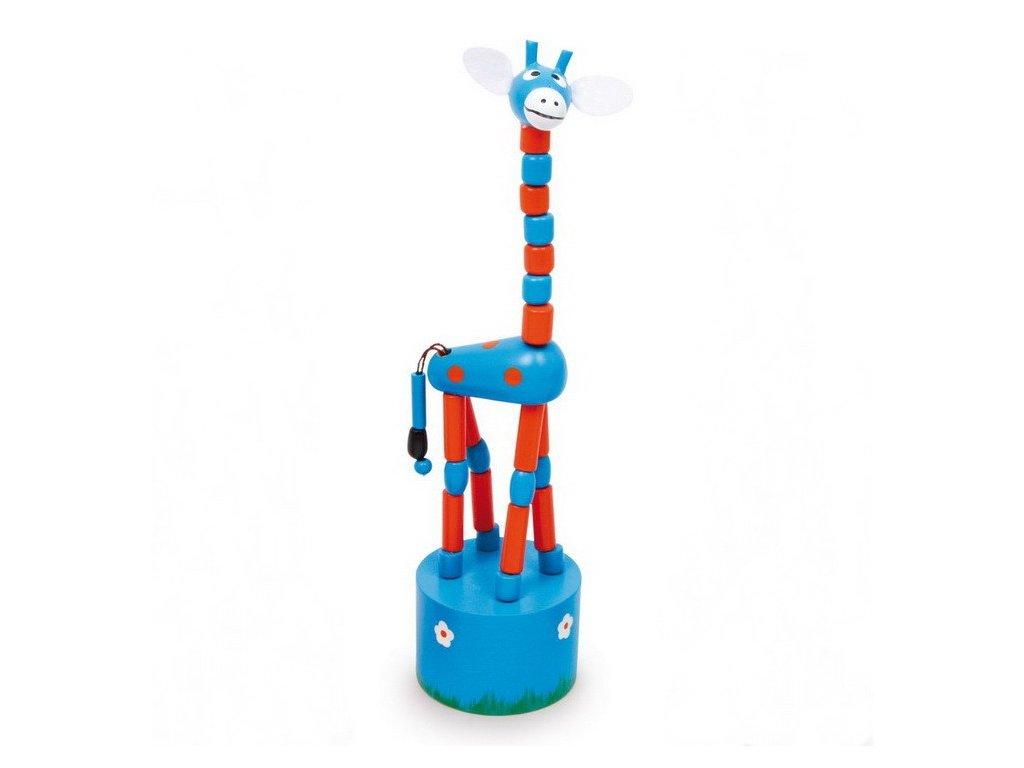 Stiskací žirafa - modrá