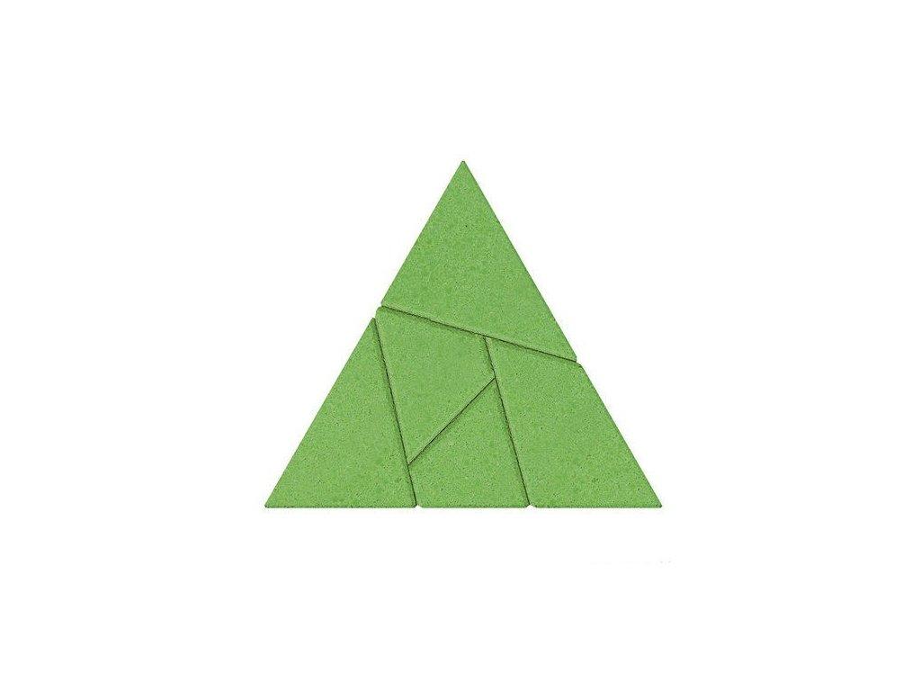 Kamenné puzzle - trojúhelník
