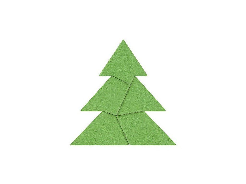 Kamenné puzzle - vánoční strom