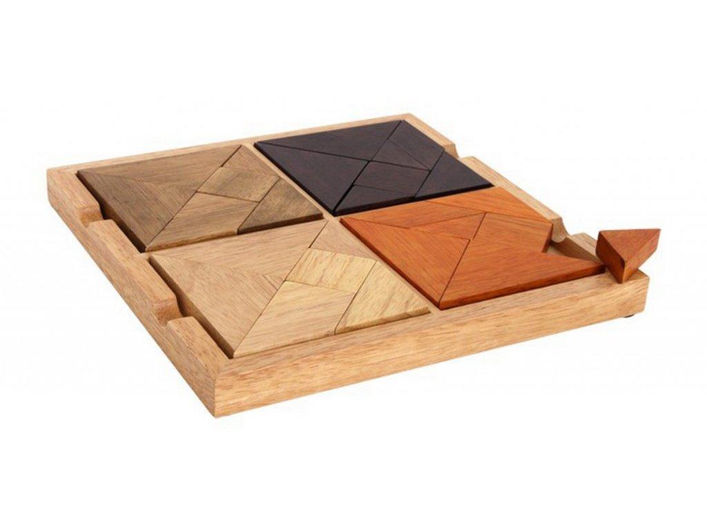 "Puzzle ""4 v 1"", tangram"
