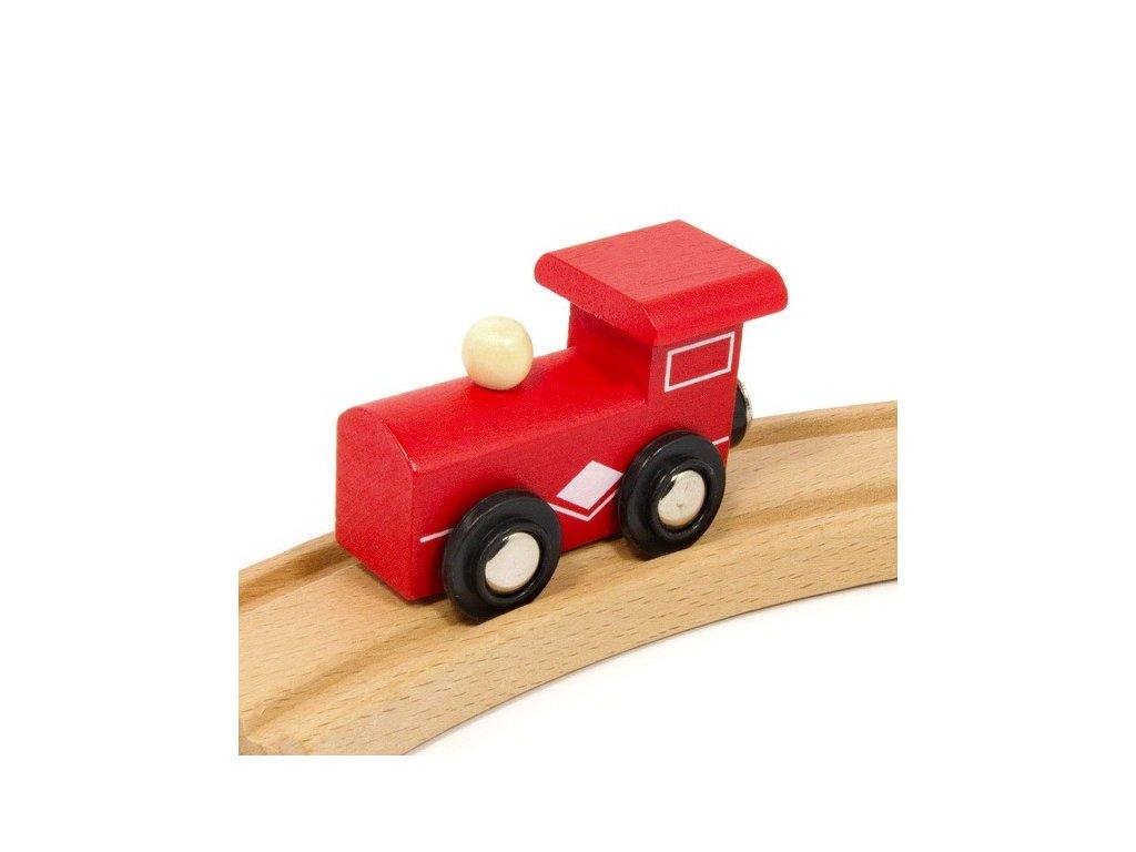 Lokomotiva červená - magnetická