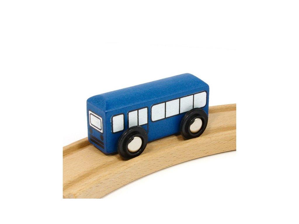 Bus modrý k vláčkodráhám