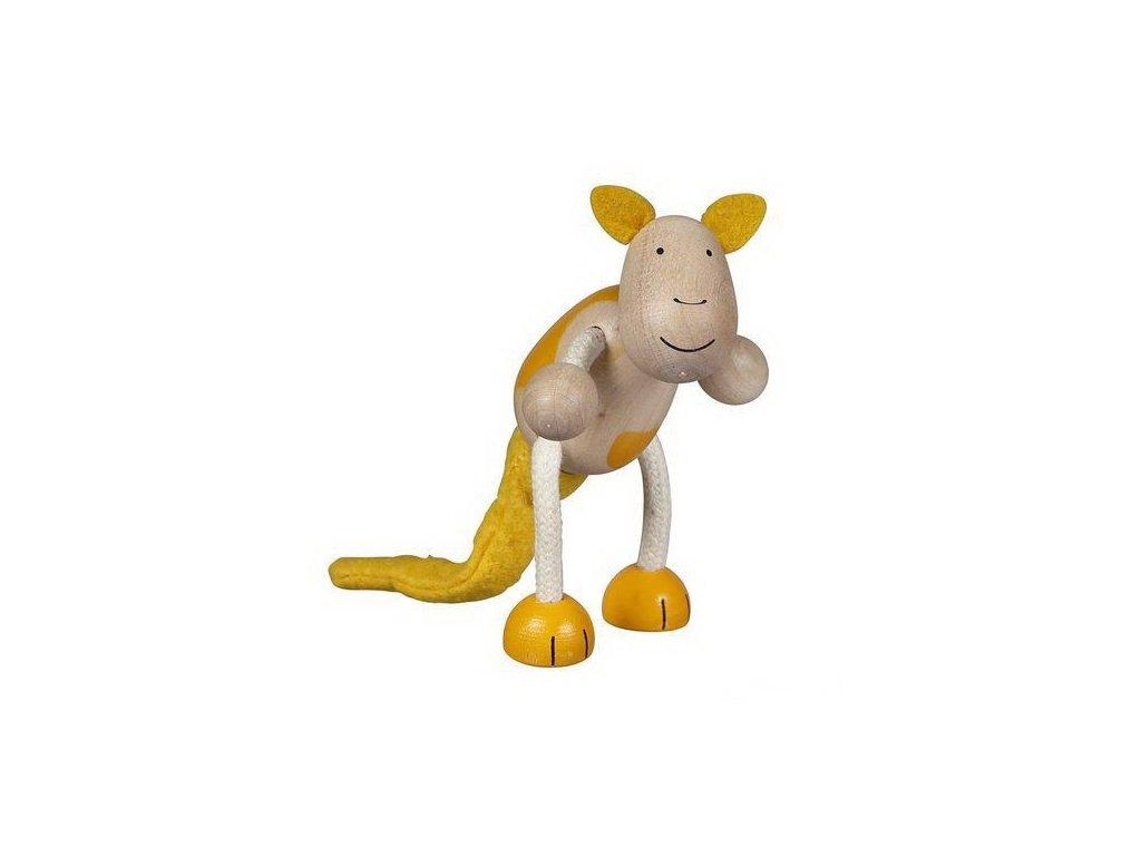 Klokan - dřevěné zvířátko pro děti