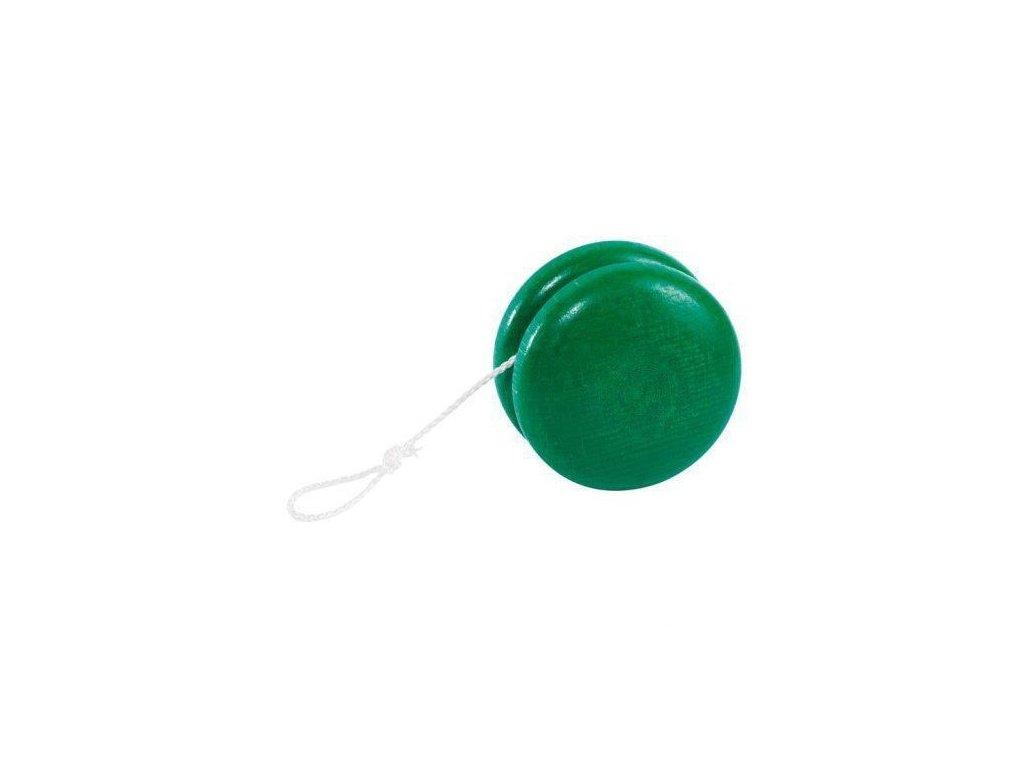 Dřevěné jojo – zelené