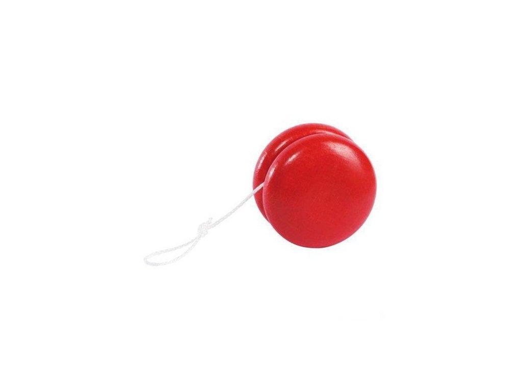 Dřevěné jojo – červené