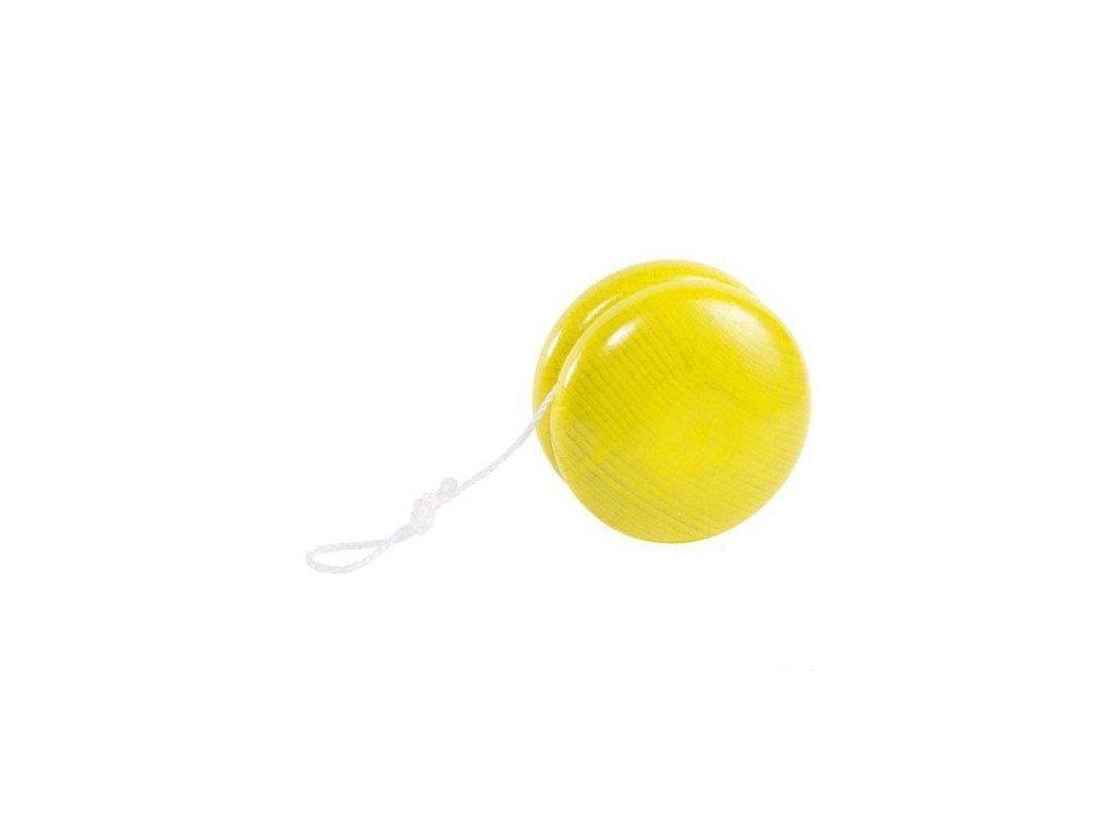 Dřevěné jojo – žluté