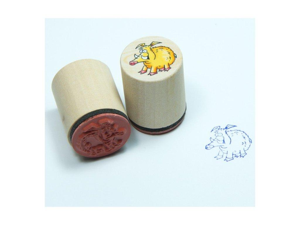 Goki Divoké prasátko - dřevěné razítko