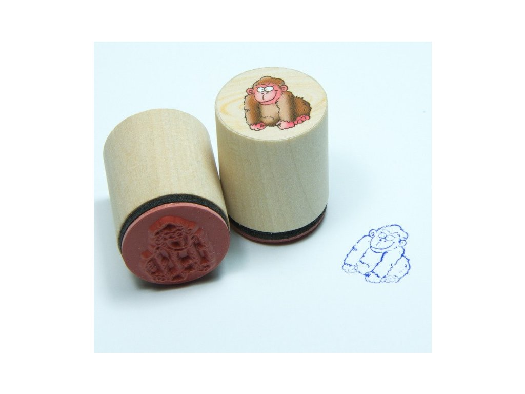 Goki Gorila - dřevěné razítko