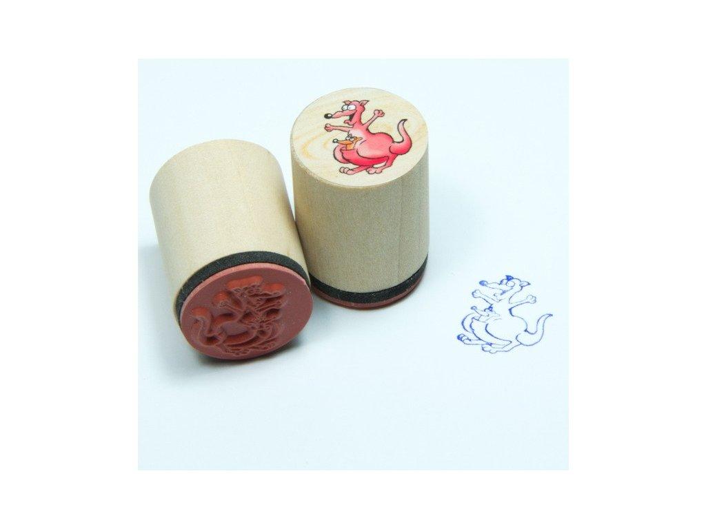 Goki Klokan - dřevěné razítko