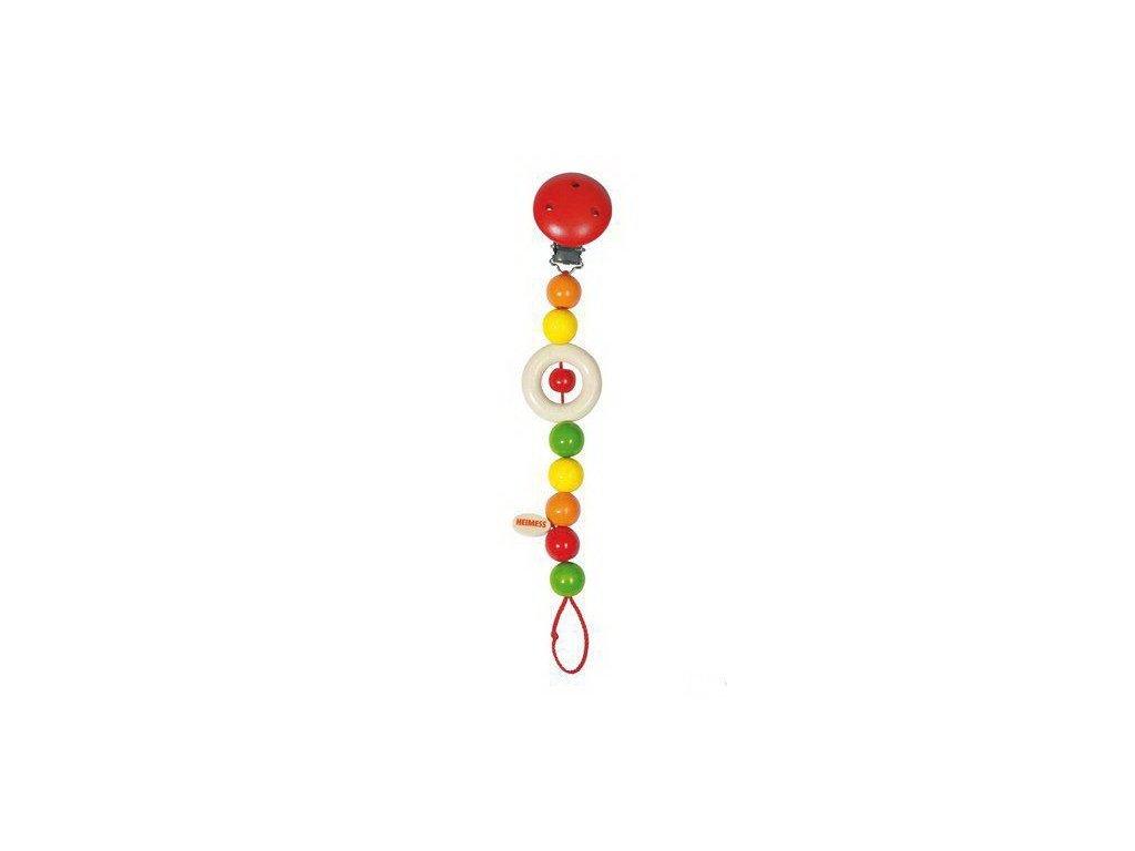 Barevné perličky – šňůra na dudlík (doprodej)