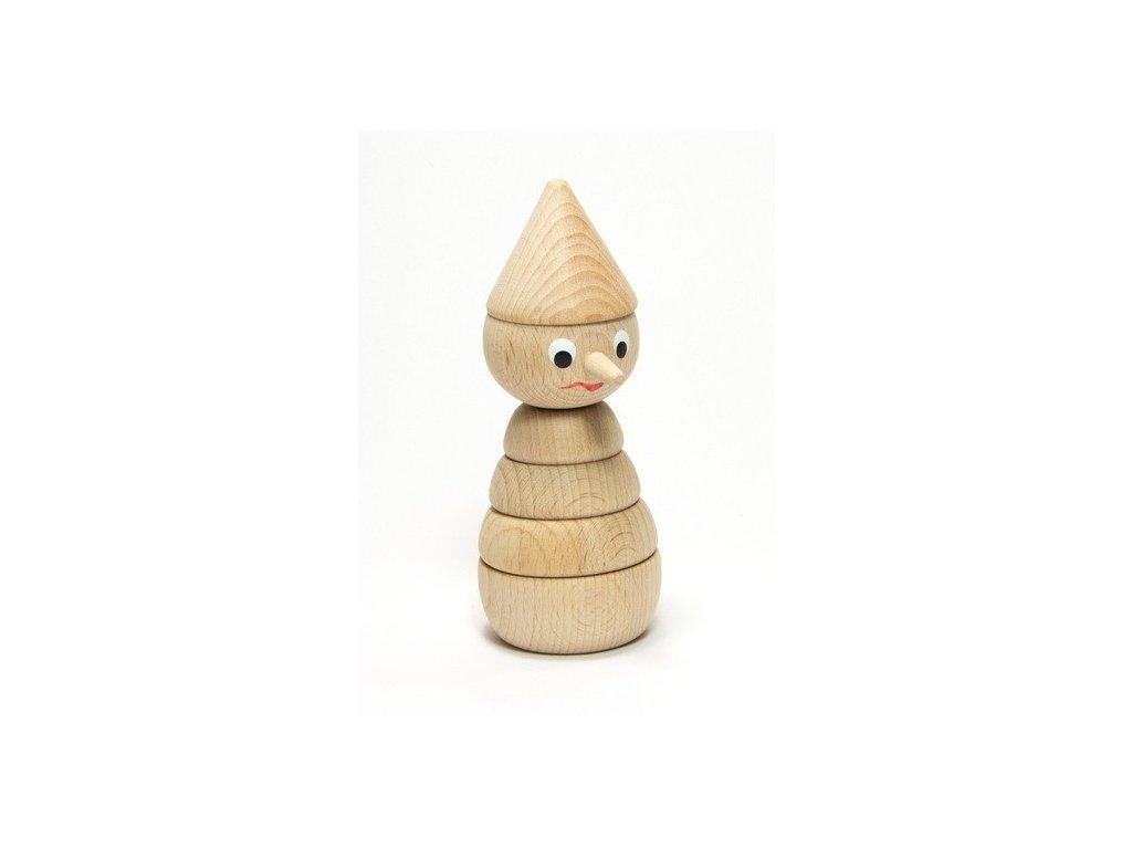Pinochio přírodní - skládačka malá