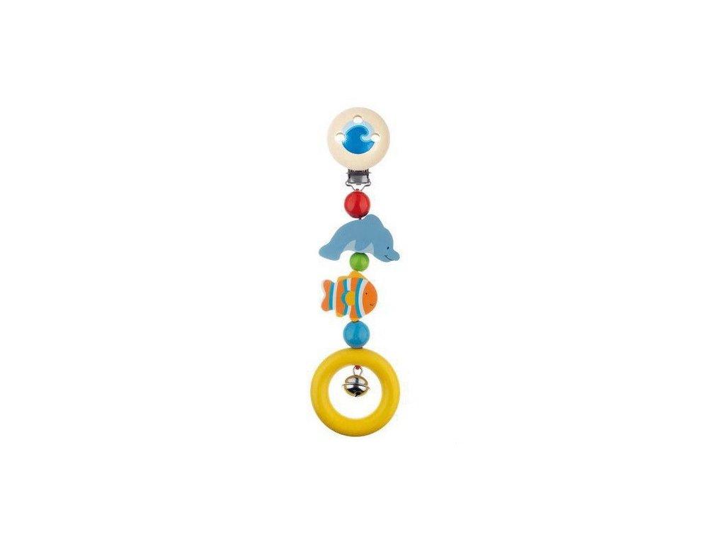 Mořská zvířátka – klip, hračka ze dřeva pro miminka