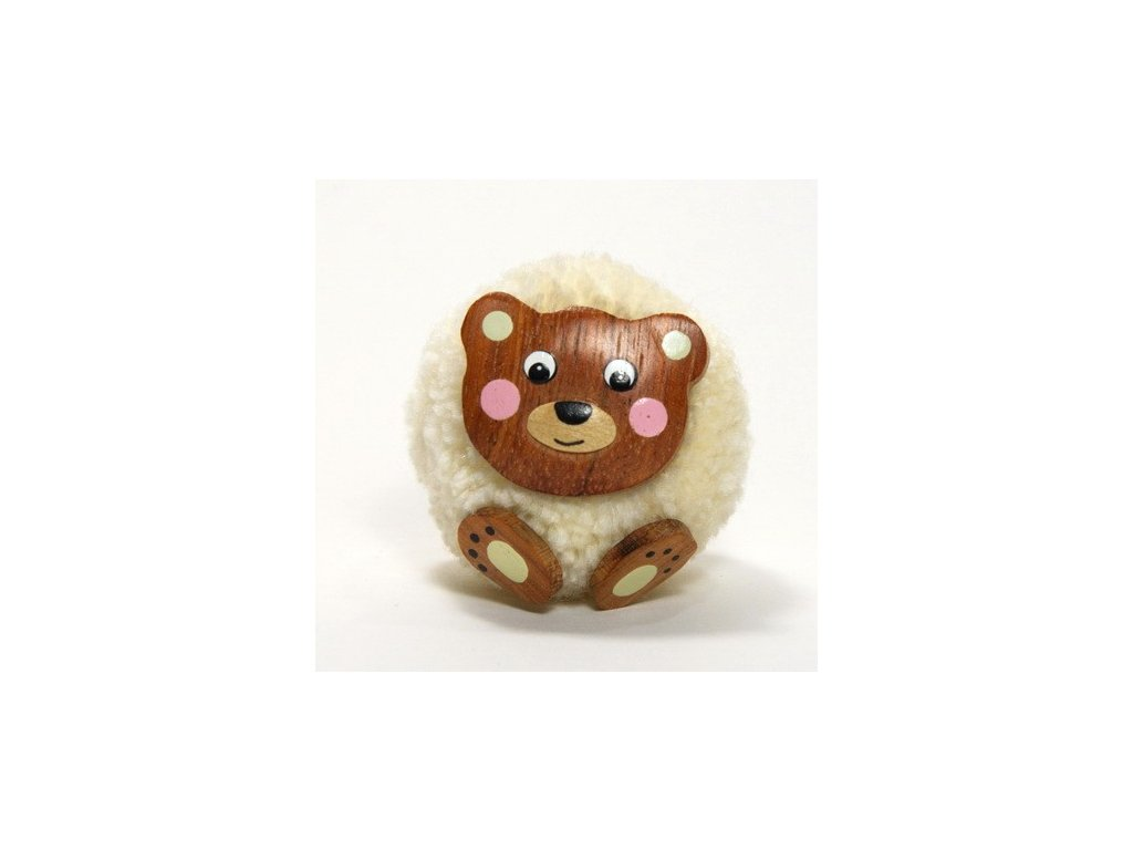 042 - Medvěd - magnetka (tropické dřevo)