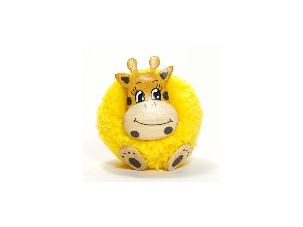 042 - Žirafa - magnetka (tropické dřevo)