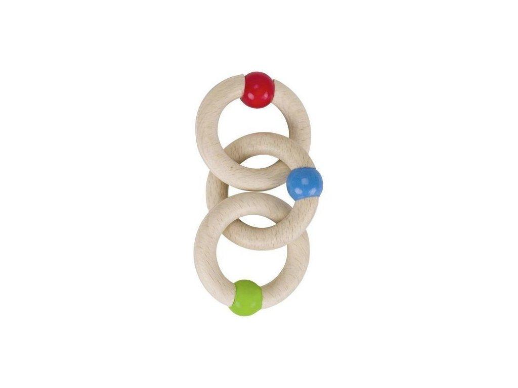 Tři kroužky – hračka do ručky