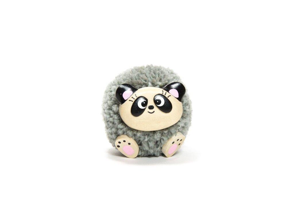 042 - Panda - magnetka (tropické dřevo)