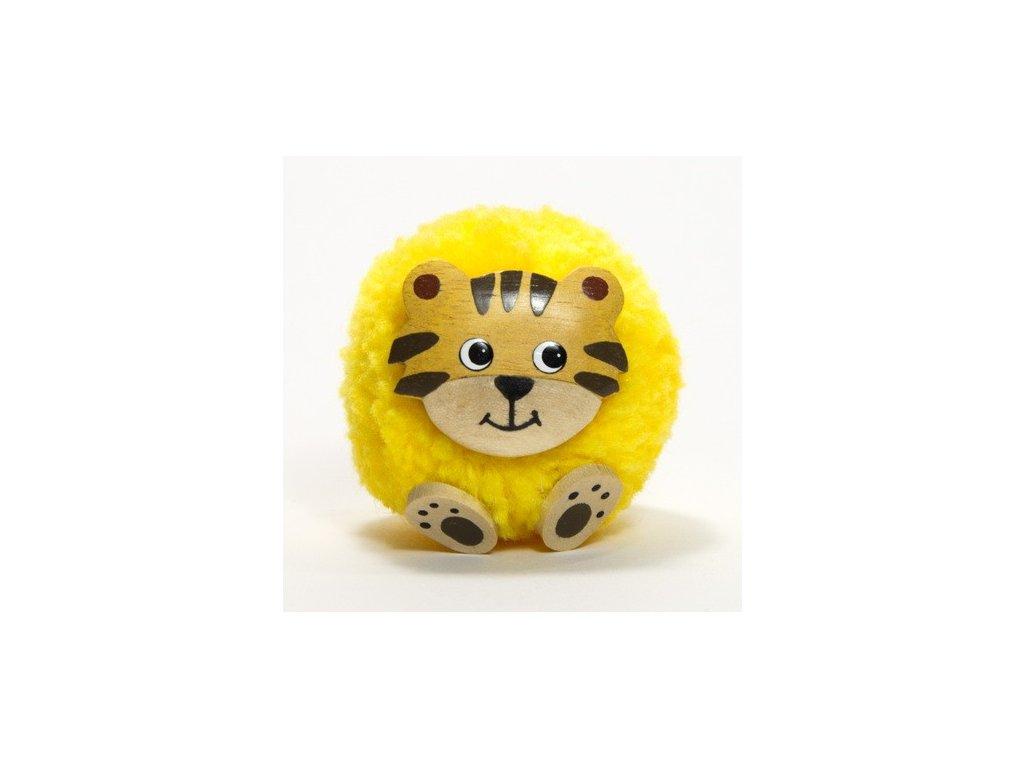 042 - Tygr - magnetka (tropické dřevo)