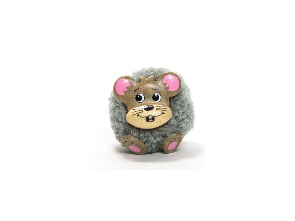 042 - Myš - magnetka (tropické dřevo)