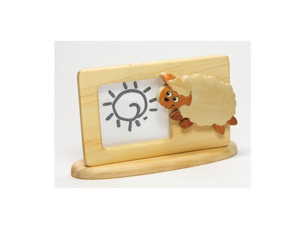 040 - Ovečka - rámeček tropické dřevo
