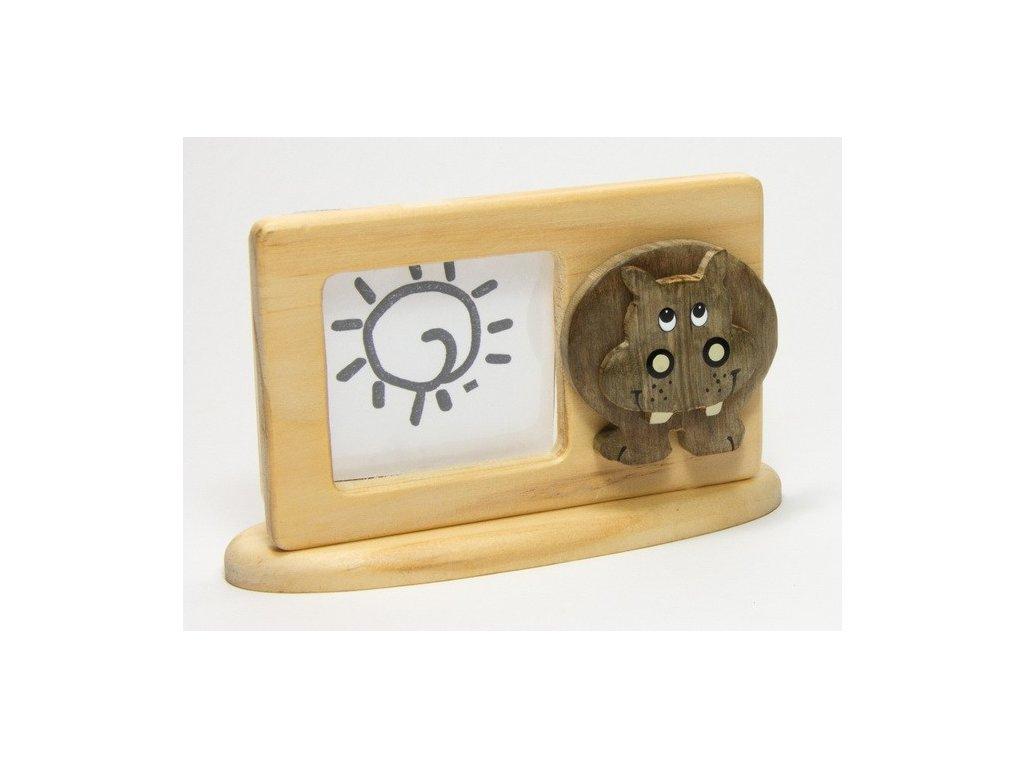 040 - Hroch - rámeček tropické dřevo