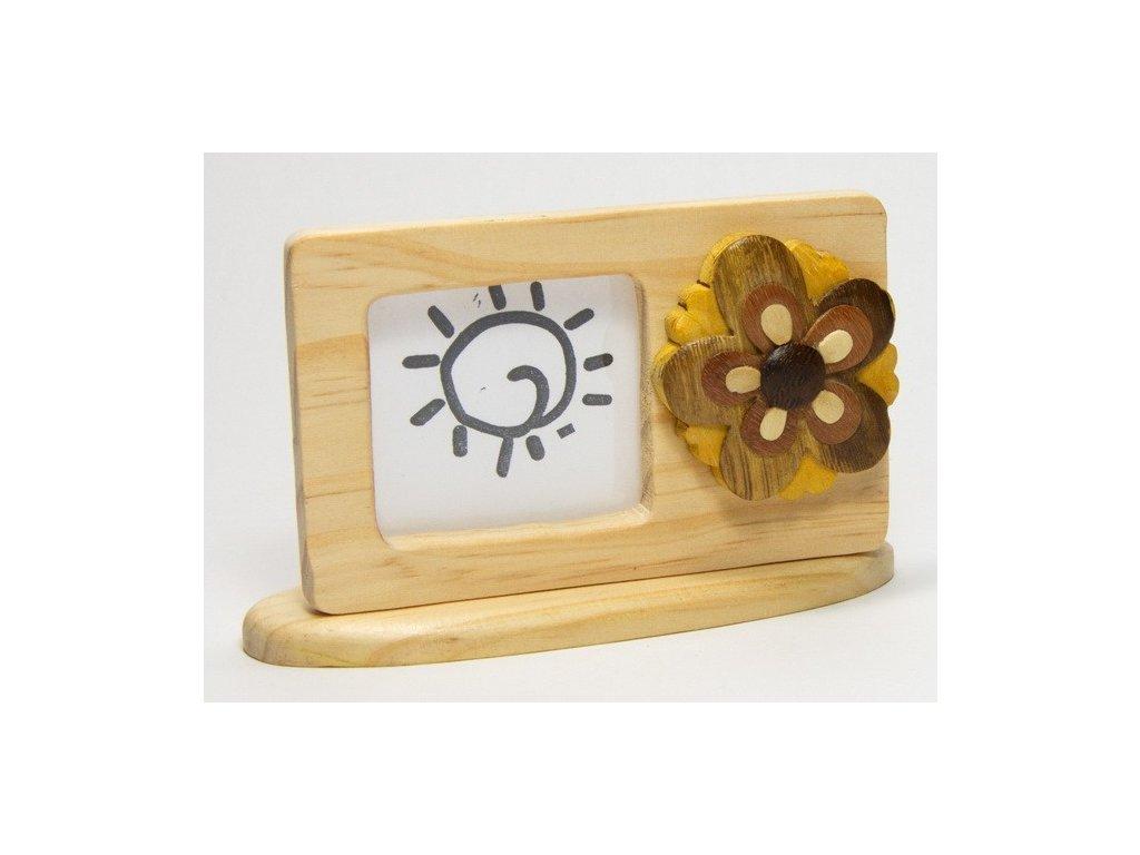 040 - Kytička - rámeček tropické dřevo