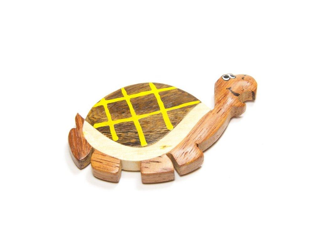 039 - Želva - magnetka (tropické dřevo)