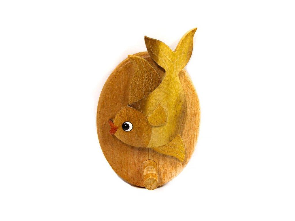 Věšáček z tropického dřeva - Rybka