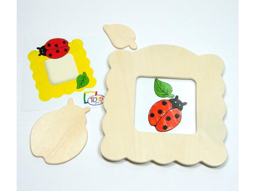 Beruška - rámeček na foto k vymalování