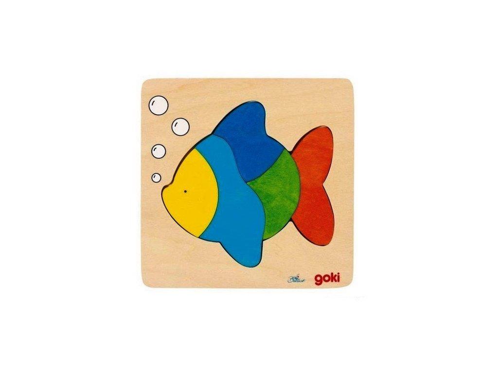 Puzzle na desce – Ryba