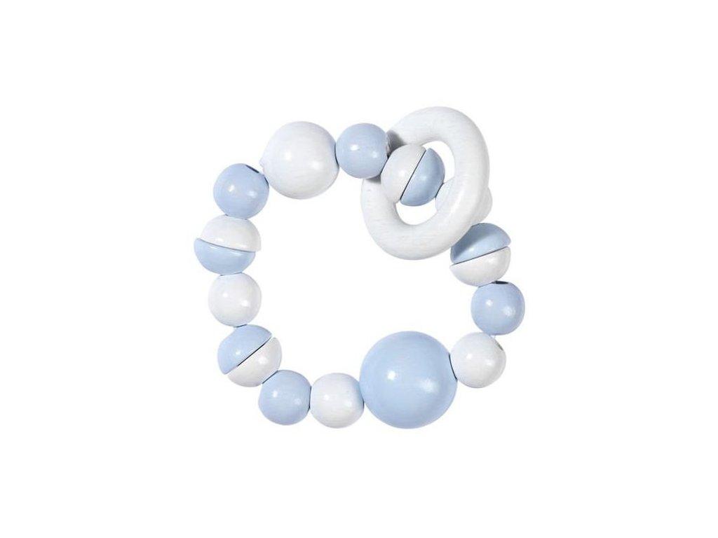 Modrá a bílá - elastická hračka do ruky