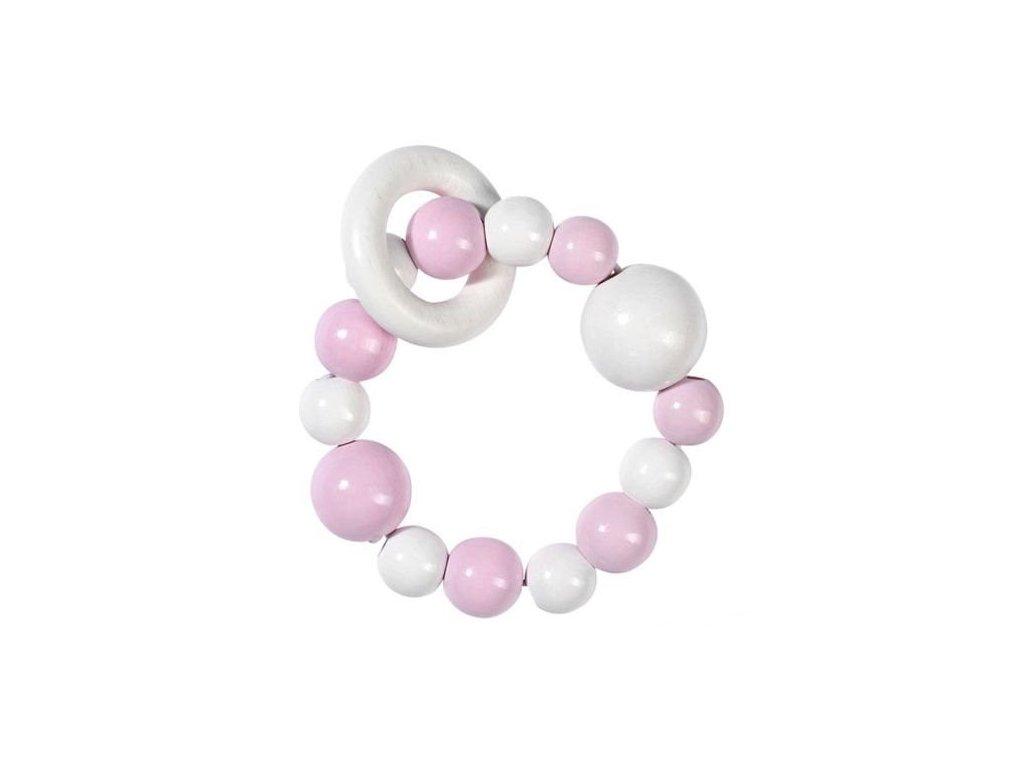 Růžová a bílá - elastická hračka do ruky (doprodej)