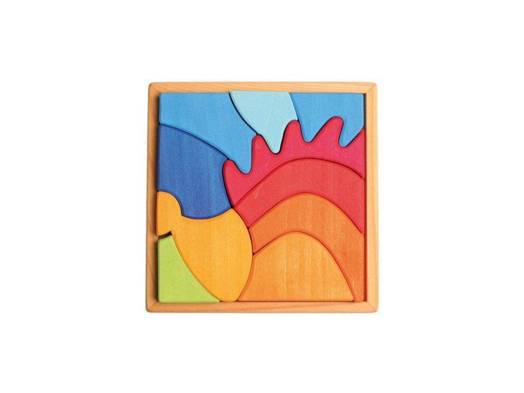 Dřevěné puzzle pro nejmenší - ježek, 10 dílů