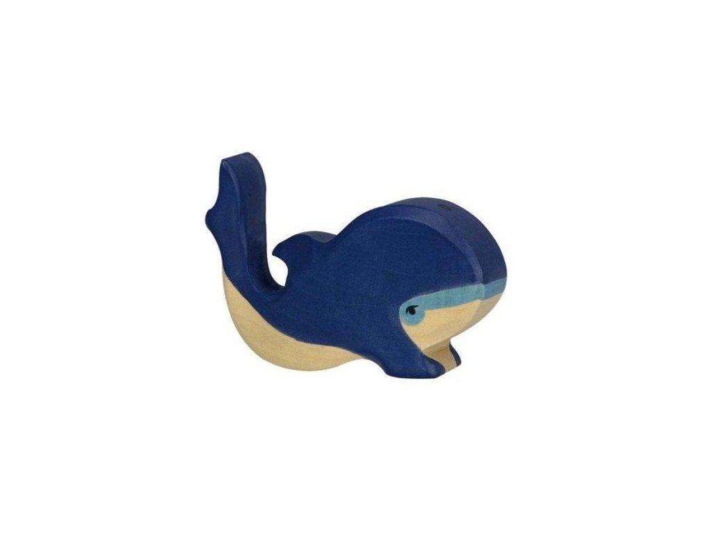 Velryba modrá, malá – dřevěné zvířátko