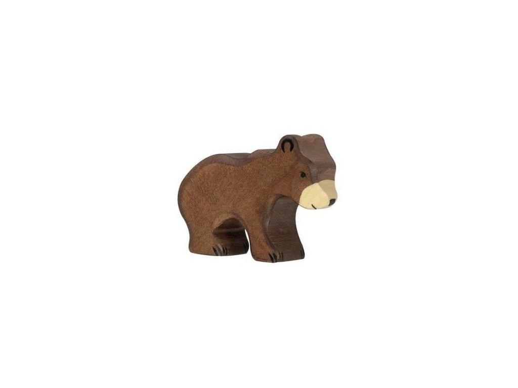 Medvěd hnědý, malý – dřevěné zvířátko