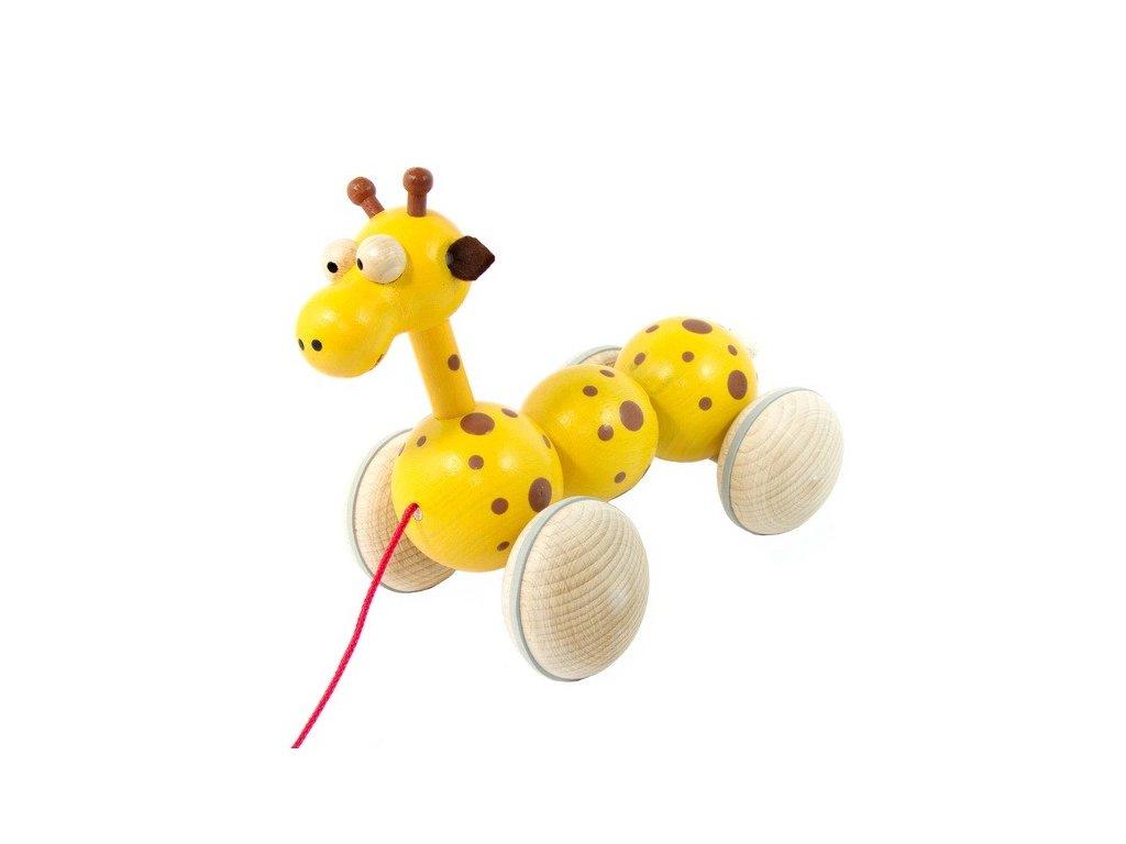 Dřevěná tahací žirafa