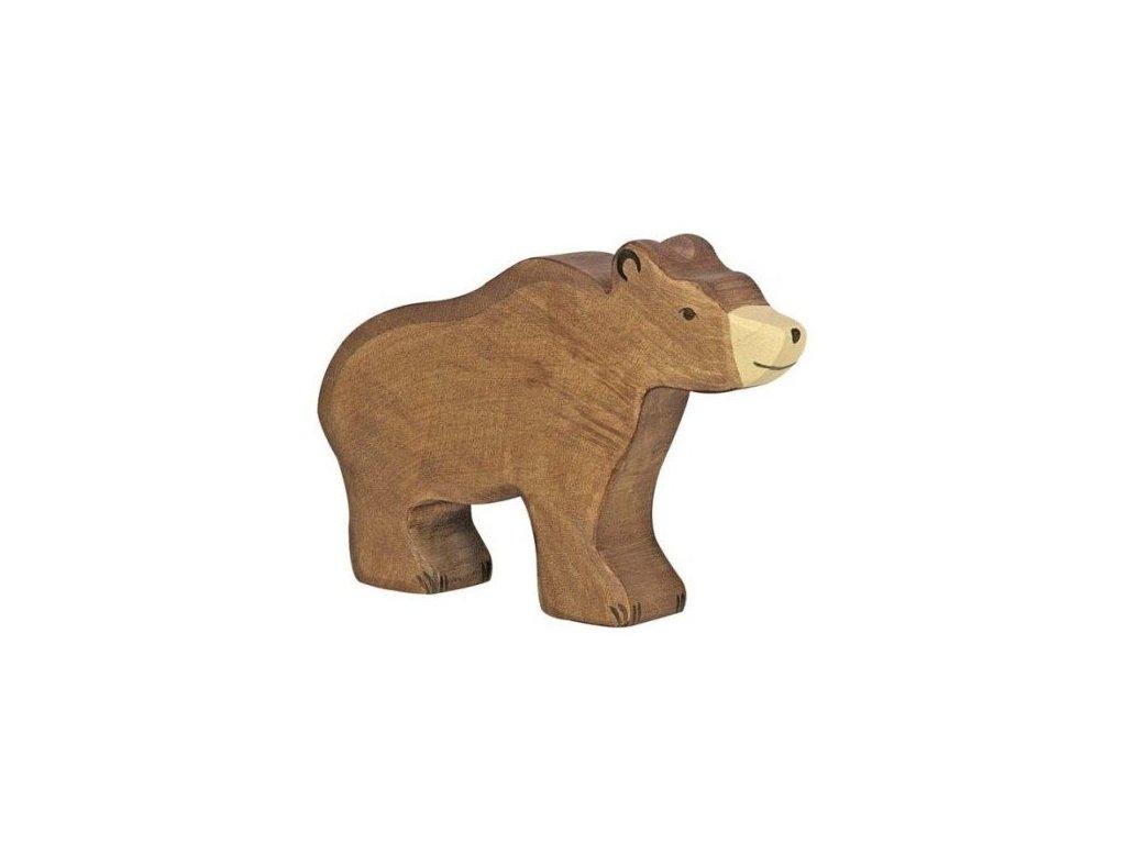 Medvěd hnědý – dřevěné zvířátko