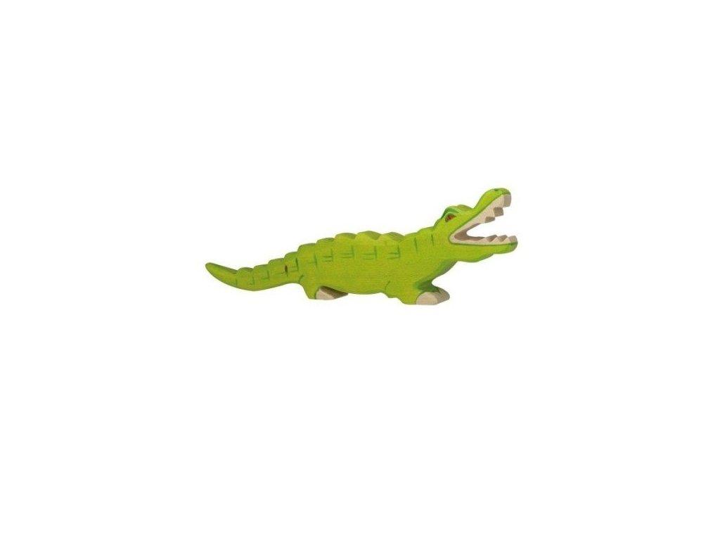 Krokodýl – dřevěné zvířátko