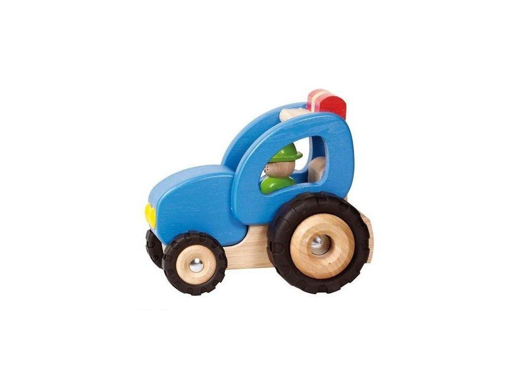 Dřevěný traktor, hračka pro kluky