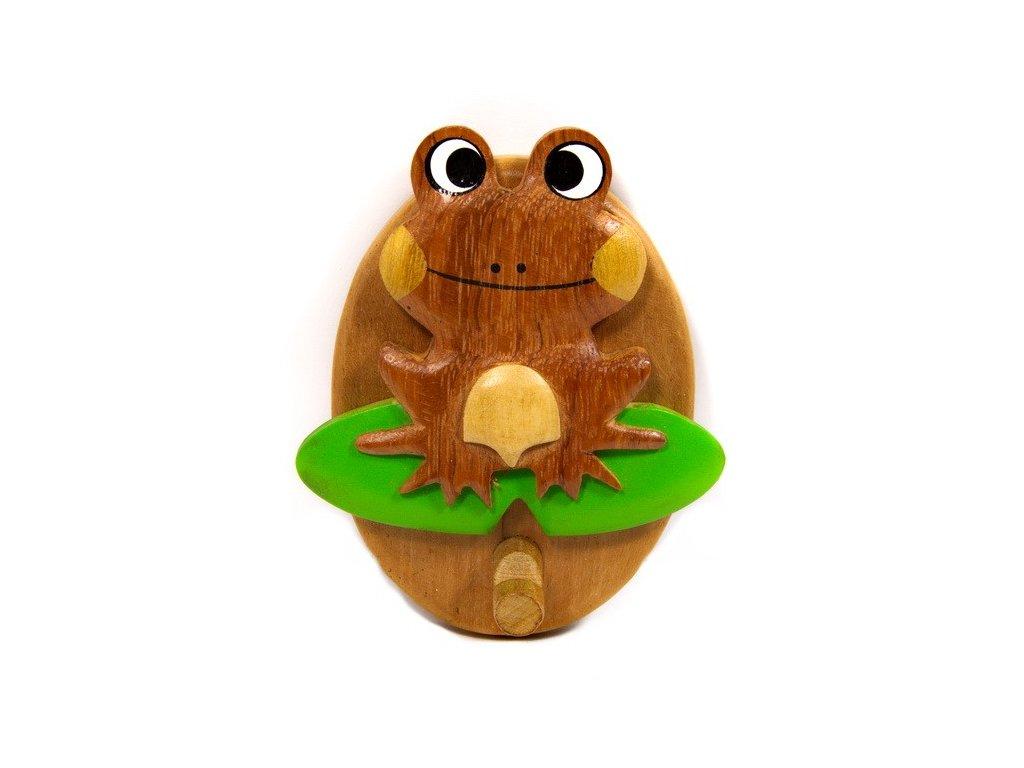 Věšáček z tropického dřeva - Žabka
