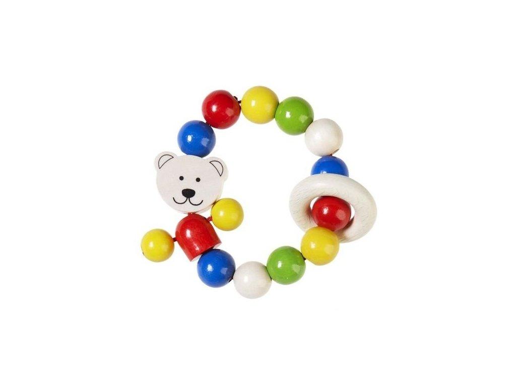 Medvídek – elastická dřevěná hračka