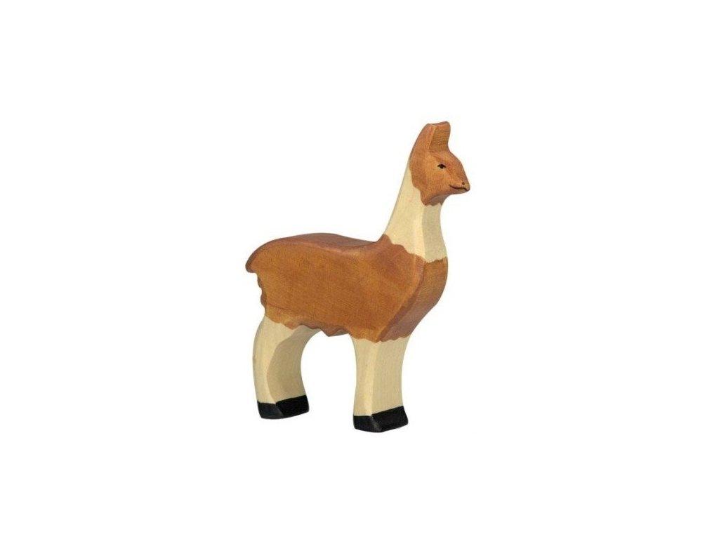 Lama – dřevěné zvířátko