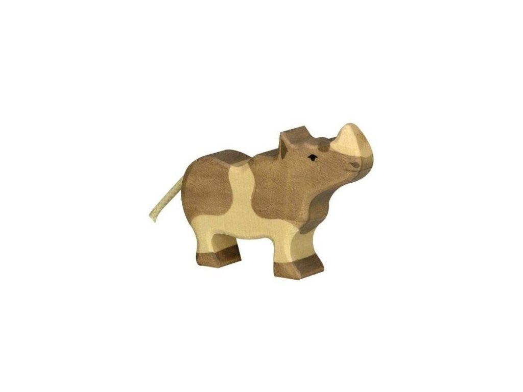 Nosorožec malý – dřevěné zvířátko