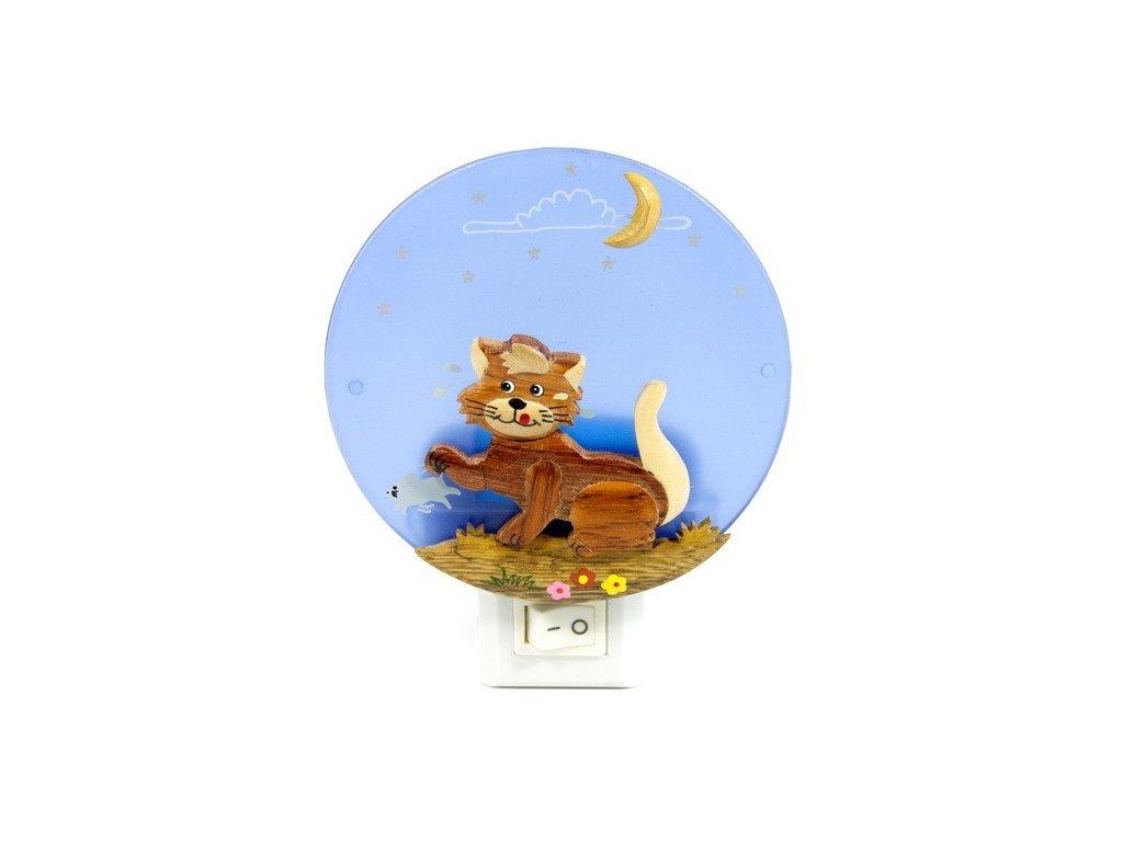 Noční světlo - Kočka a myš