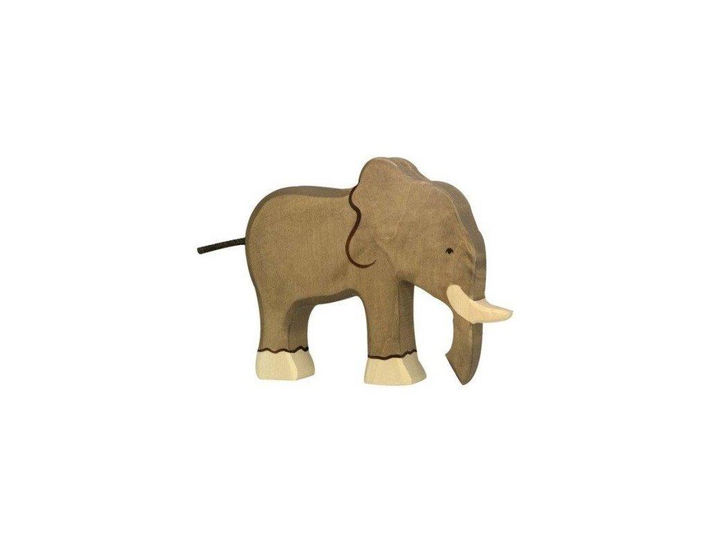 Slon – dřevěné zvířátko