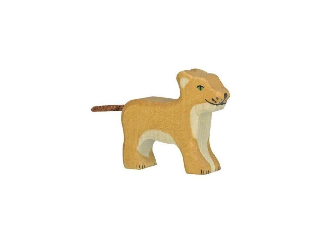 Lev malý, stojící – dřevěné zvířátko
