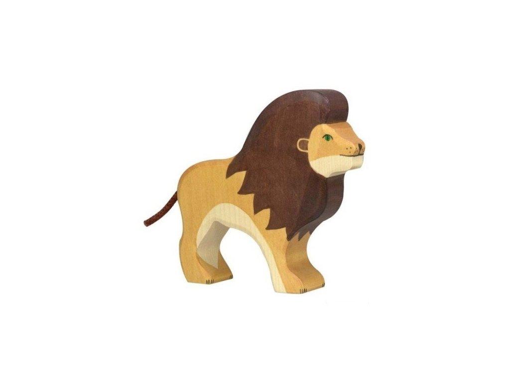 Lev – dřevěné zvířátko
