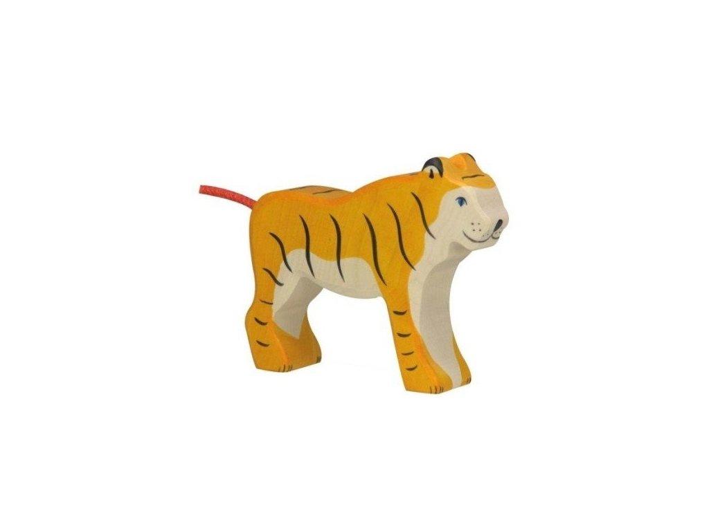 Tygr stojící – dřevěné zvířátko