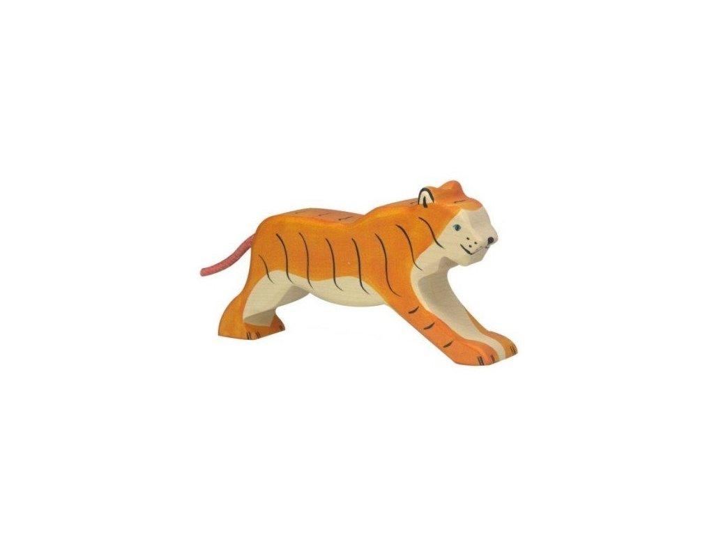 Tygr běžící – dřevěné zvířátko