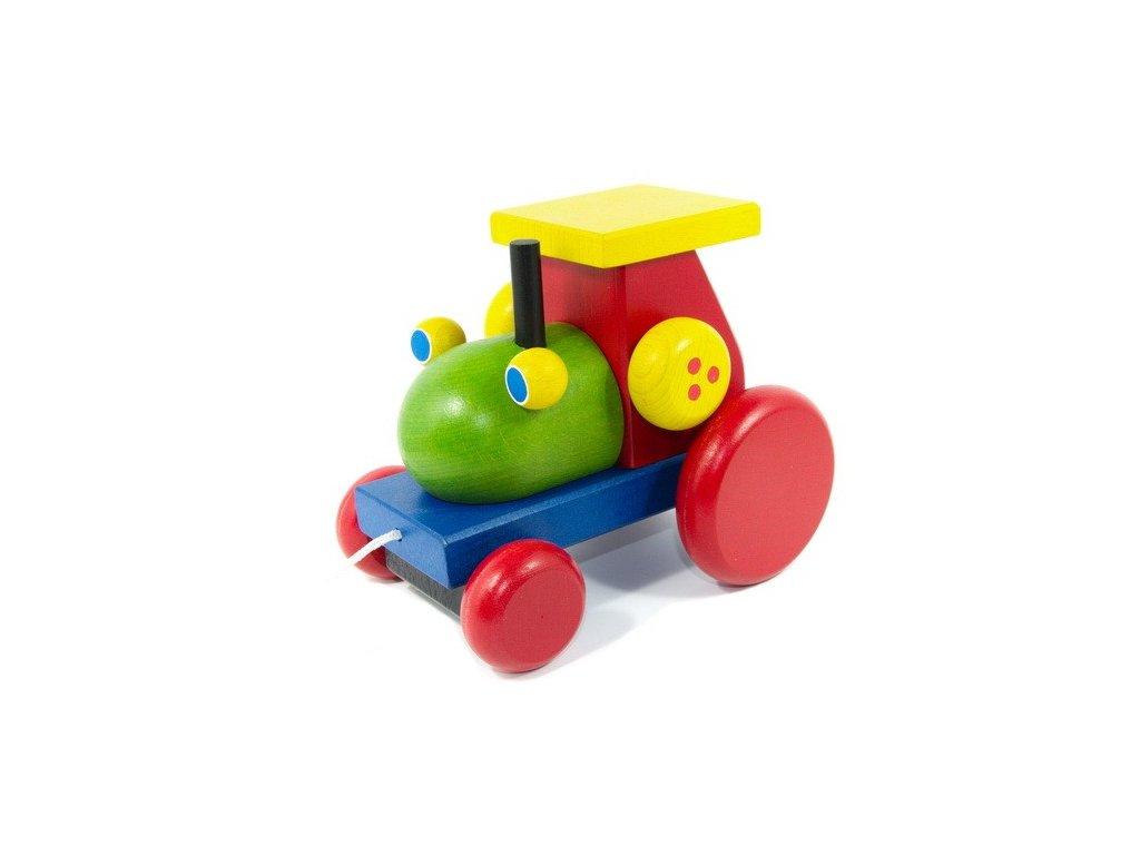 Dřevěný traktor tahací - klapací