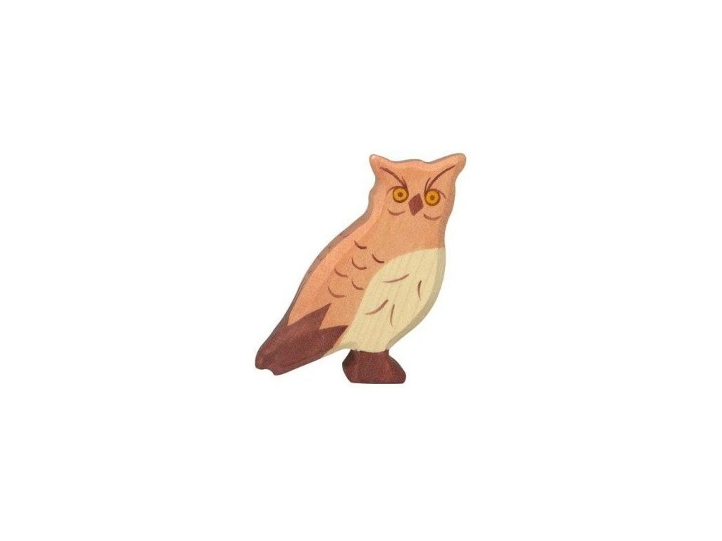 Výr – dřevěné zvířátko